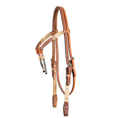 Teskey's Crossover Browband with Horsehair Tassels Tack - Headstalls - Browband Teskey's Teskeys