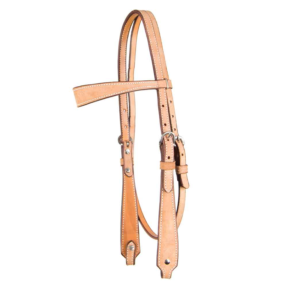 Teskey's Wide Roughout Browband Headstall Tack - Headstalls - Browband Teskey's Teskeys
