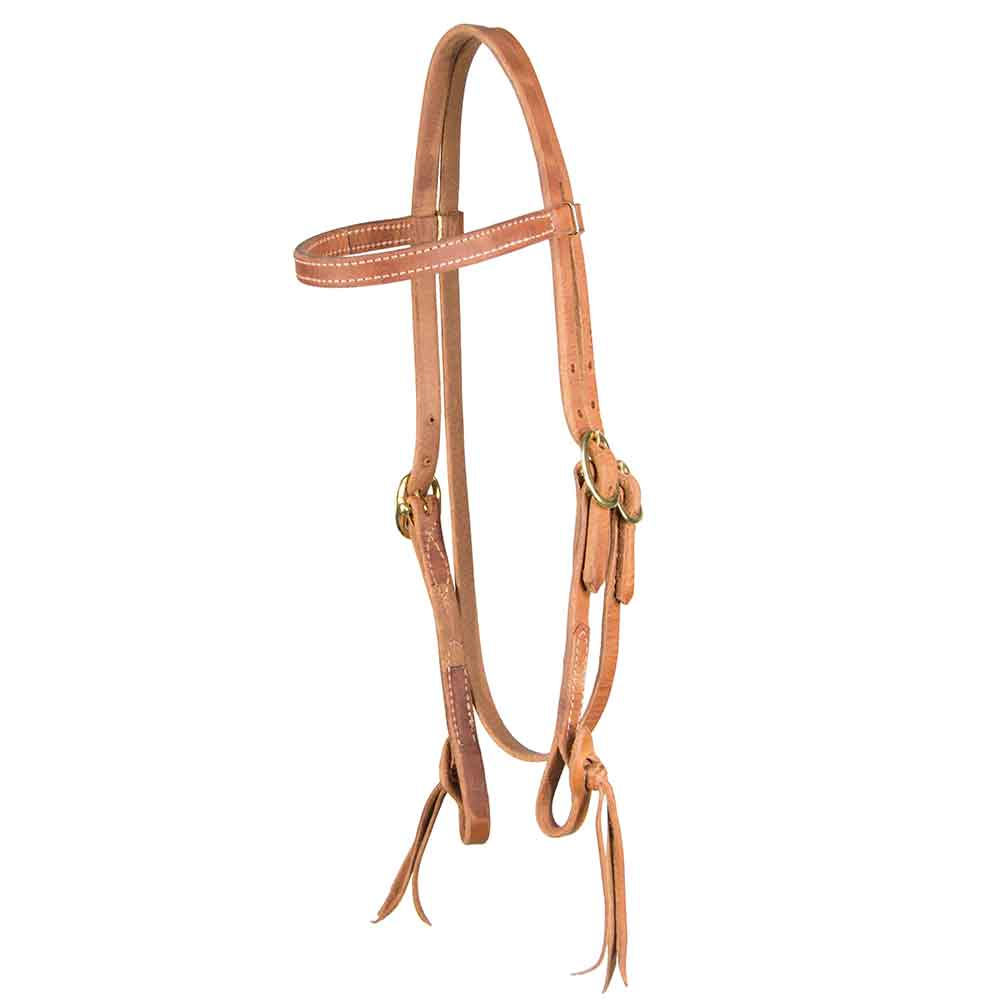 Teskey's Browband Headstall With Pineapple Knot Tack - Headstalls - Browband Teskey's Teskeys