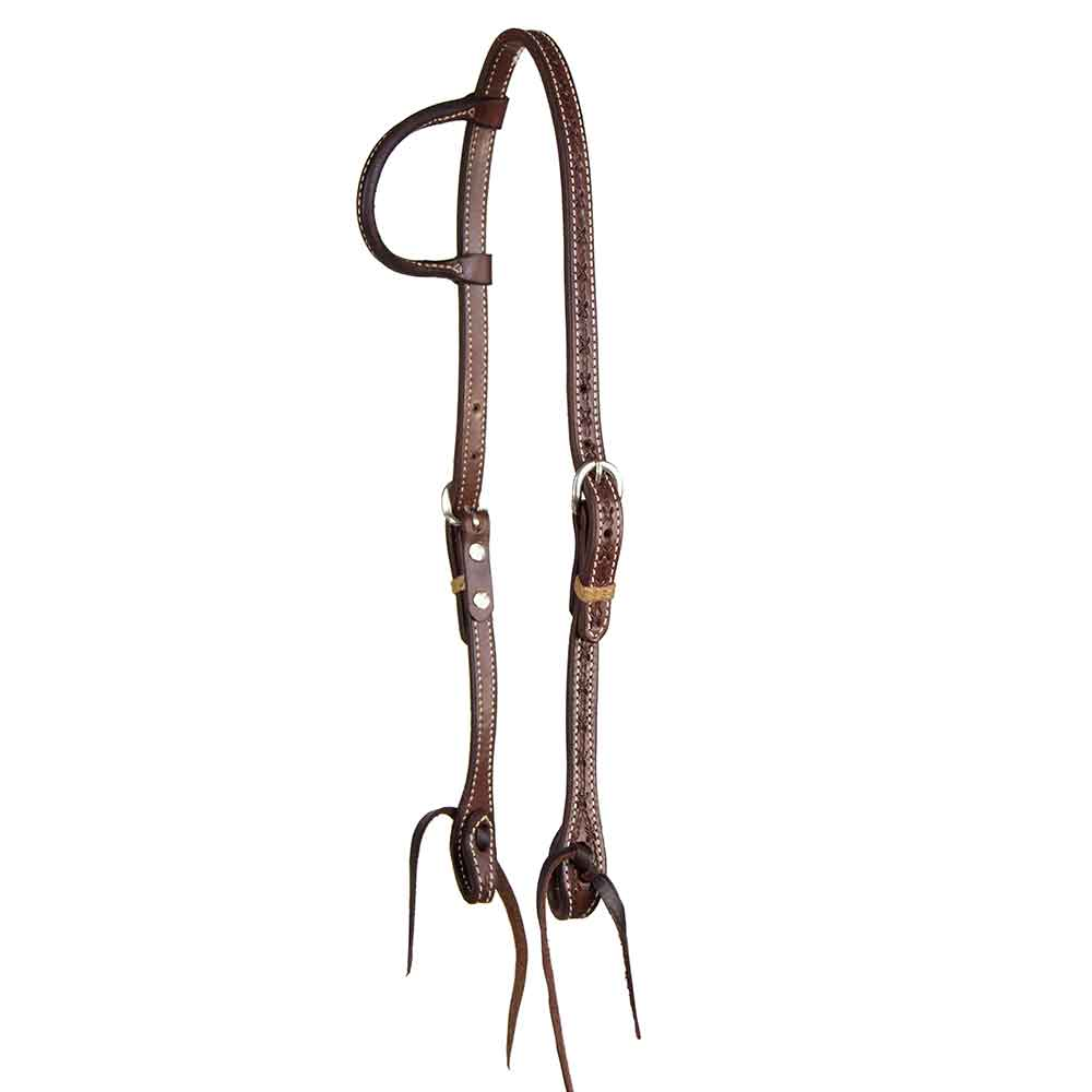 Teskey's Barbwire One Ear Headstall Tack - Headstalls Teskey's Teskeys