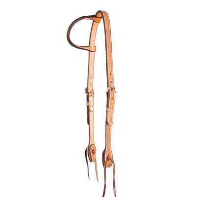 Teskey's Basket Stamped One Ear Headstall Tack - Headstalls - One Ear Teskey's Teskeys