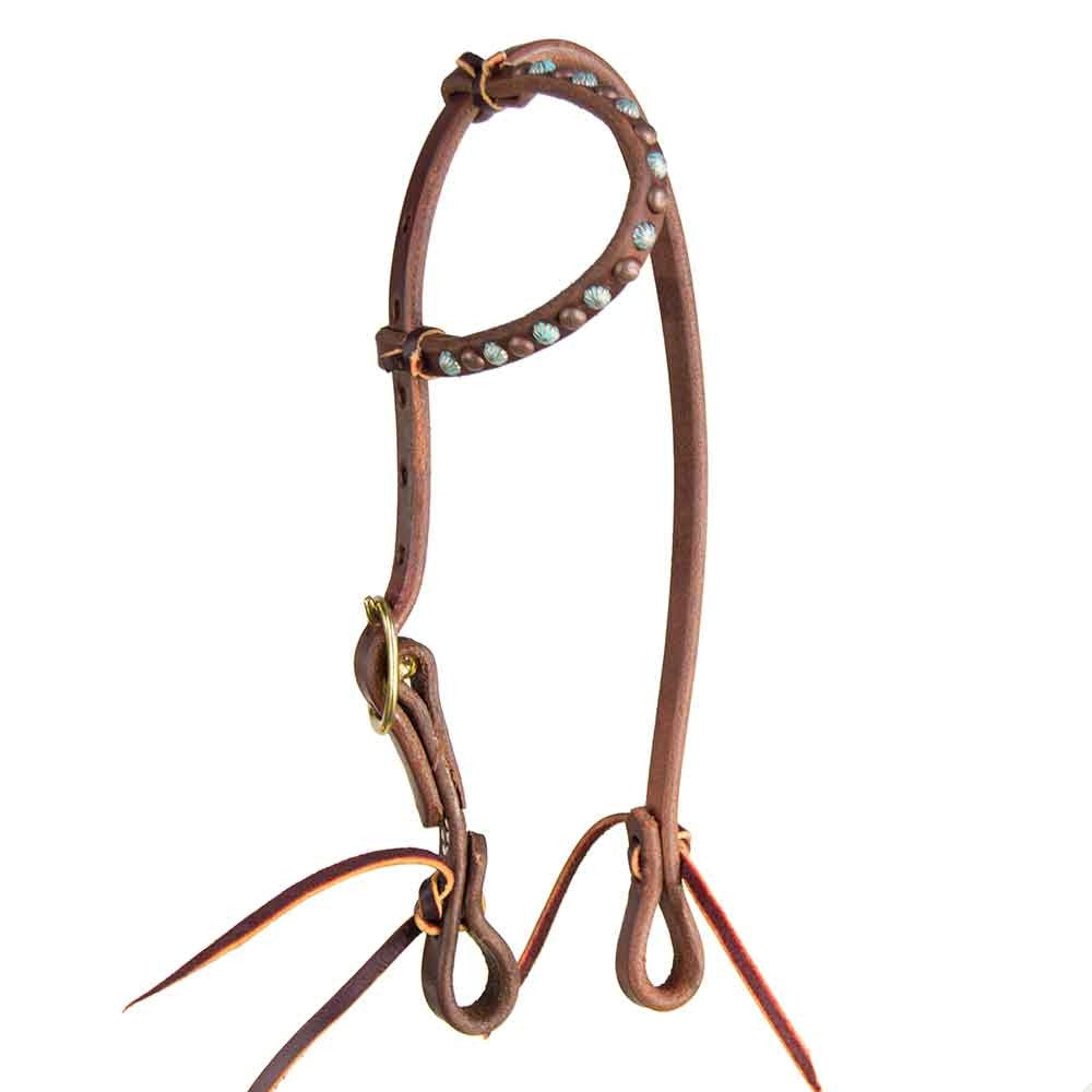 Headstall with Parachute Dots for Original No Hit Bit Tack - Headstalls Teskeys Teskeys