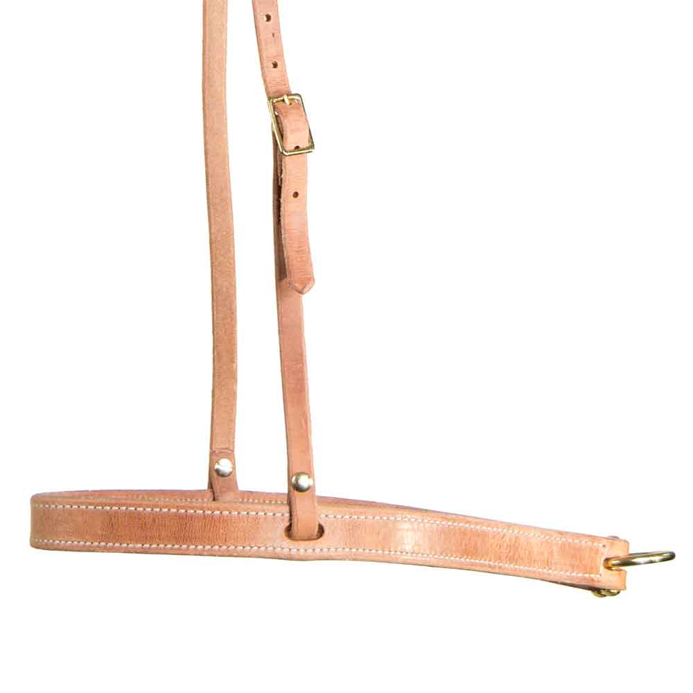 "Teskey's 1"" Leather Noseband Tack - Nosebands & Tie Downs Teskeys Teskeys"