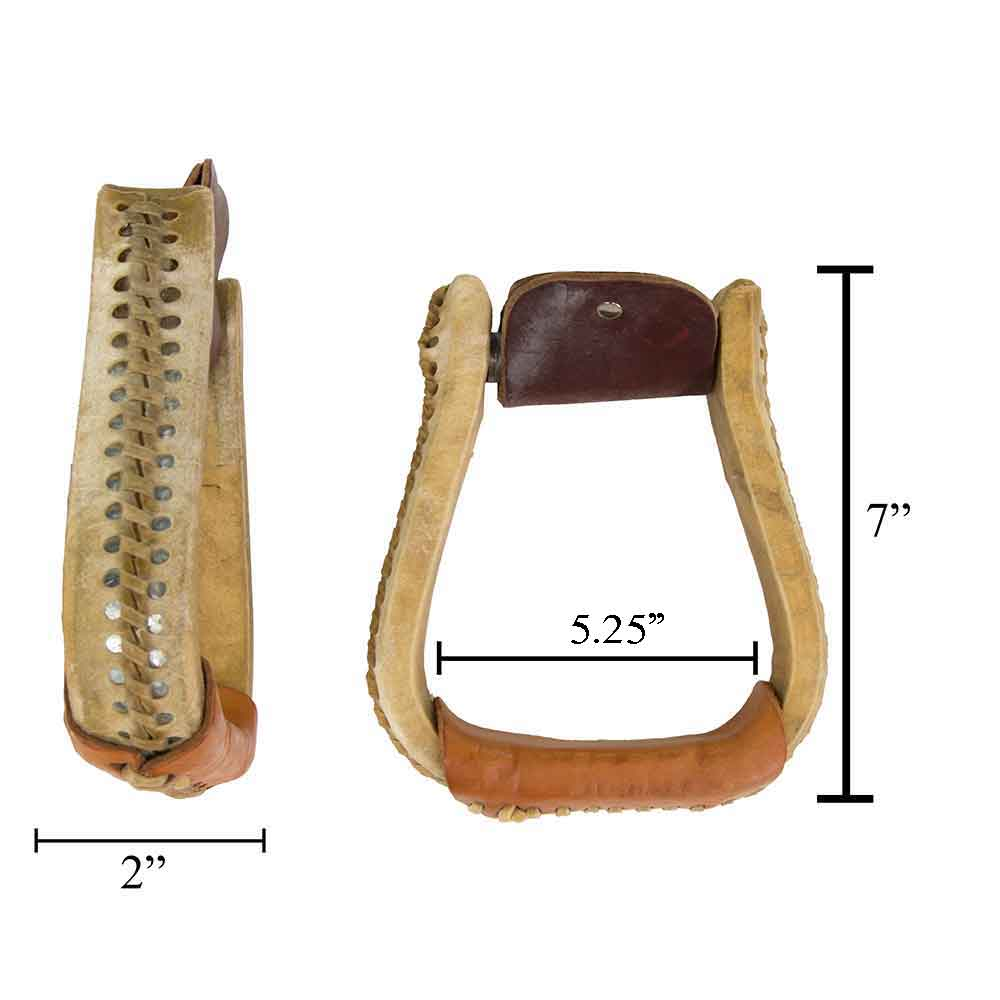 "Teskey's 2"" Rawhide Bell Stirrups Saddles - Saddle Accessories Teskey's Teskeys"