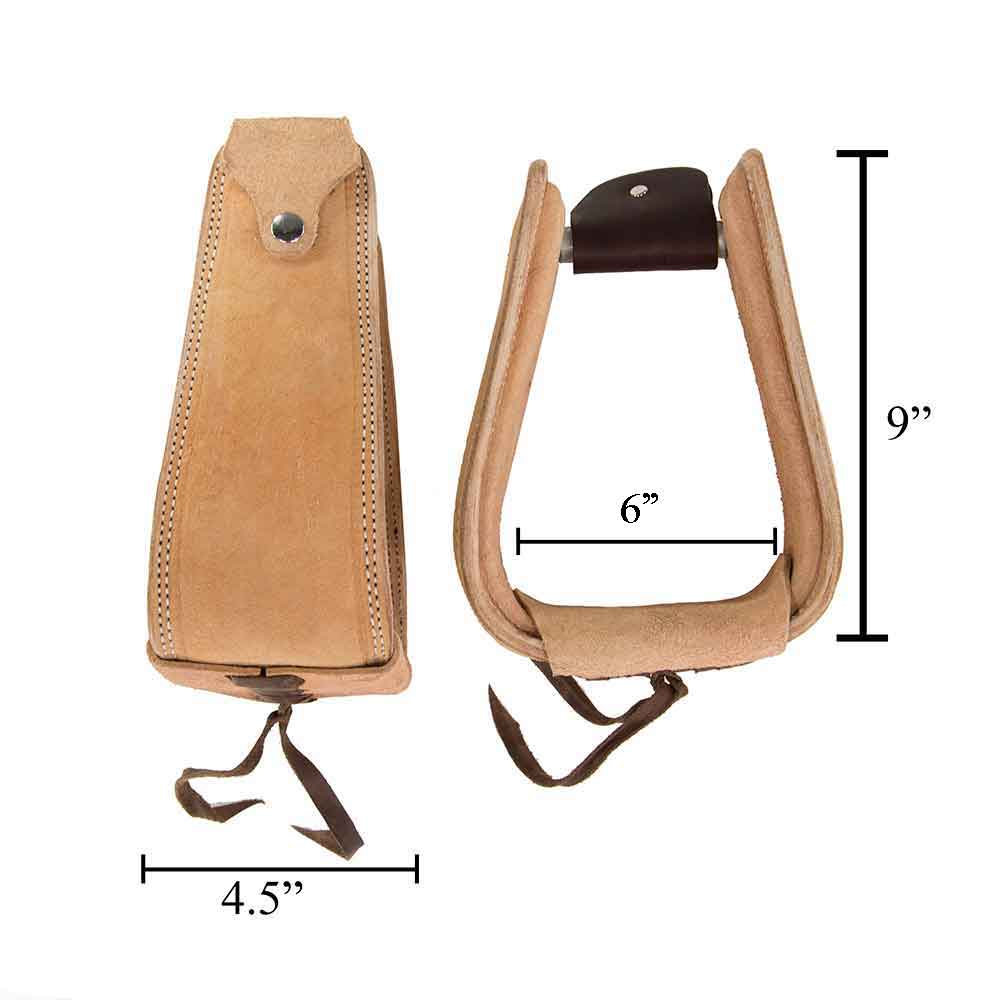 "Teskey's 4.5"" Roper Overshoe Stirrups Saddles - Saddle Accessories Teskey's Teskeys"