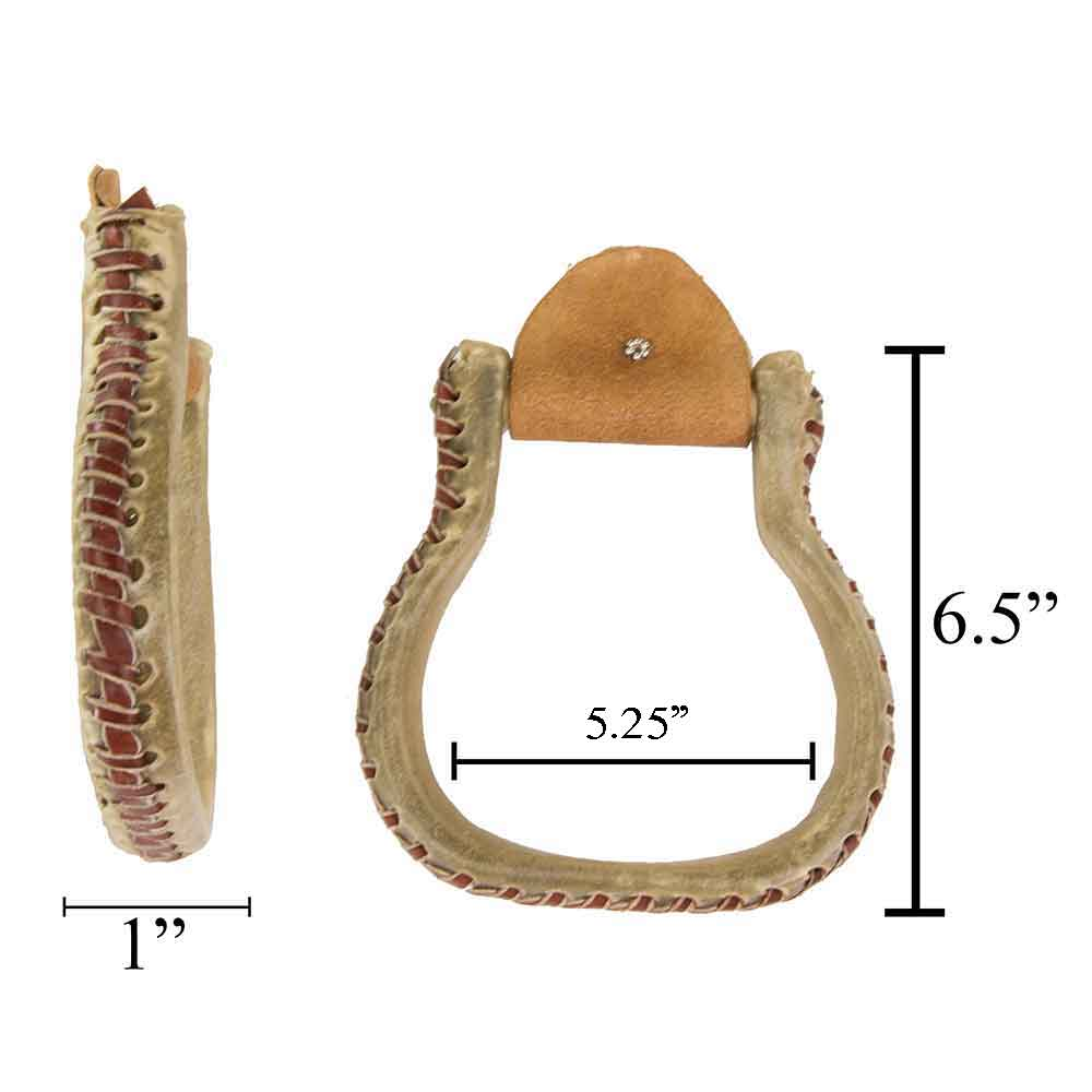 "1"" Rawhide Flat Bottom Oxbow Saddles - Saddle Accessories Teskeys Teskeys"