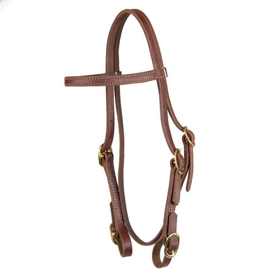 Teskey's Browband Headstall with Buckle Ends Tack - Headstalls - Browband Teskey's Teskeys