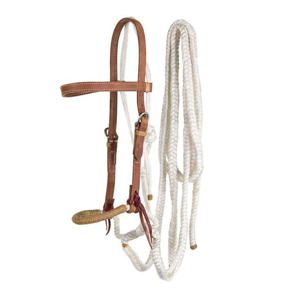 Teskey's Hackamore with Split Reins Tack - Nosebands & Tie Downs Teskeys Teskeys