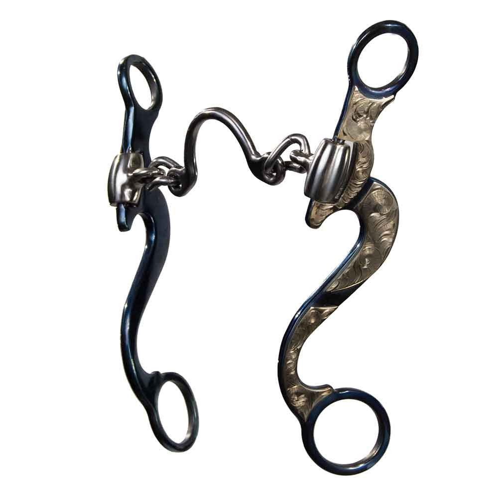 Conquistador Long Shank Wide Ported Chain Bit Tack Metalab Teskeys