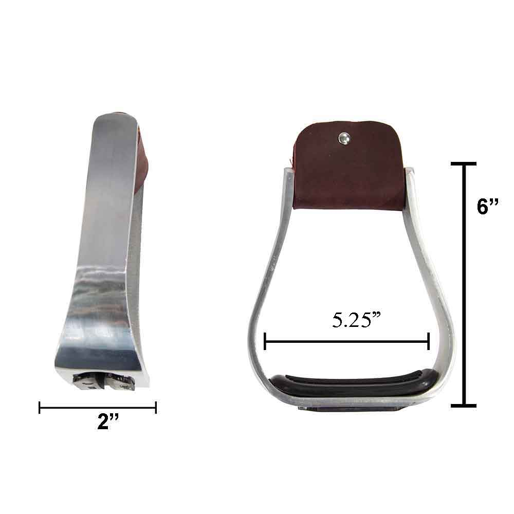 "Aluminum 2"" Bell Stirrups with Rubber Tread Saddles - Saddle Accessories Teskeys Teskeys"