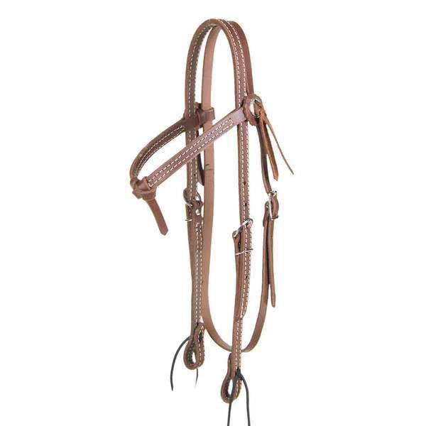 Dark Oil Browband Headstall w/Tie Ends Tack - Headstalls Teskeys Teskeys