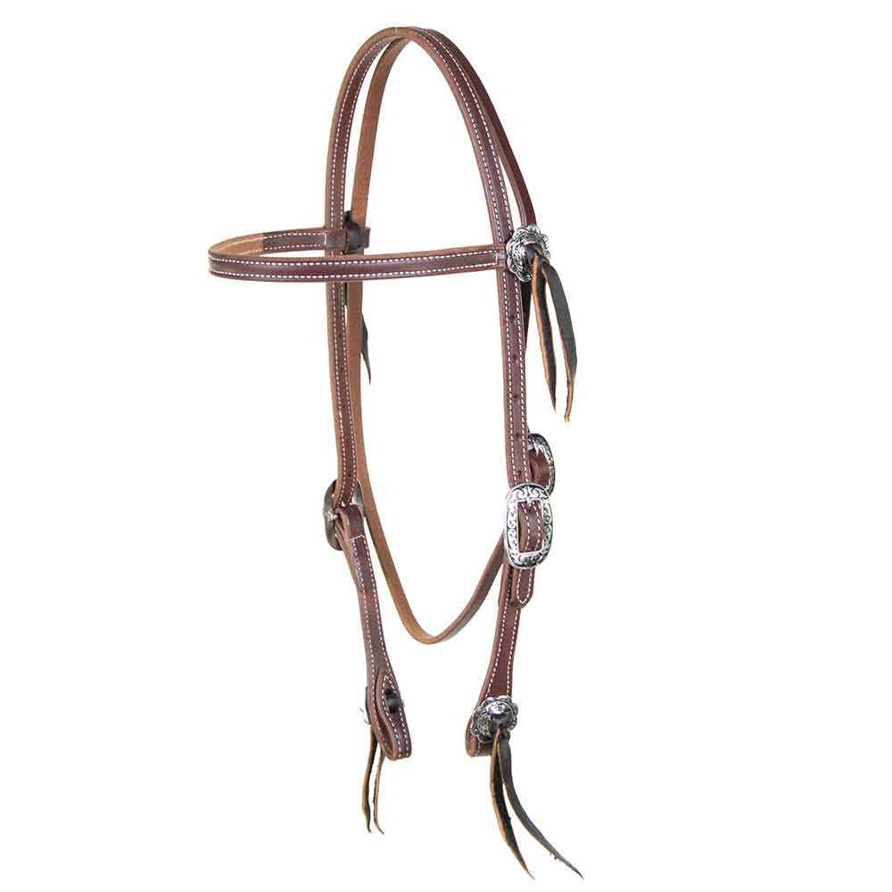 Teskey's Double Stitched Browband Headstall Tack - Headstalls - Browband Teskey's Teskeys