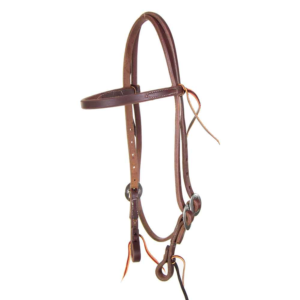 Teskey's Heavy Oil Browband Headstall Tack - Headstalls - Browband Teskey's Teskeys