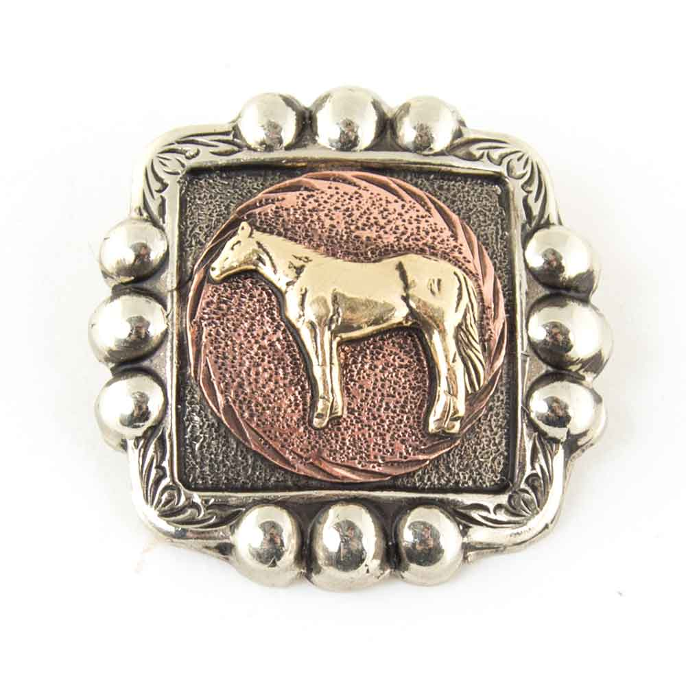 Horse Concho w/ Copper Background Tack - Conchos & Hardware - Conchos Teskeys Teskeys