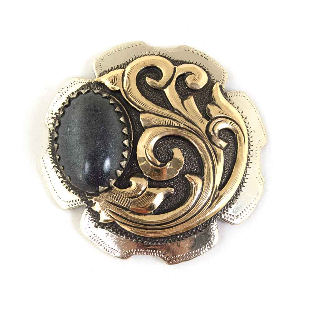 Black and Gold Antique Concho