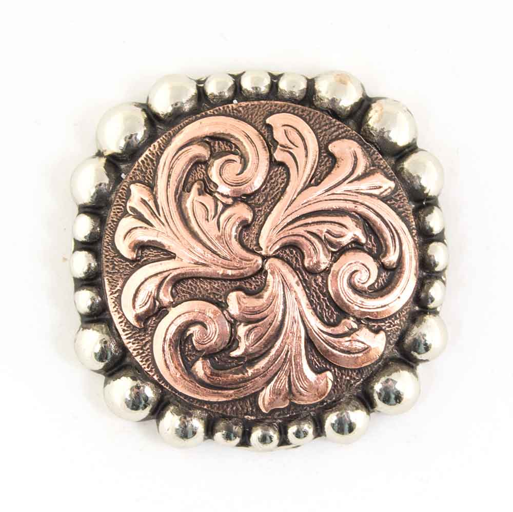 Antique Floral Copper and Dot Concho Tack - Conchos & Hardware - Conchos Teskeys Teskeys