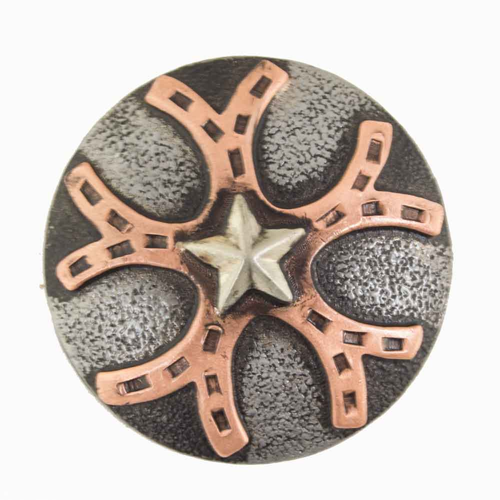 Copper Horseshoe And Star Concho Tack - Conchos & Hardware Teskeys Teskeys