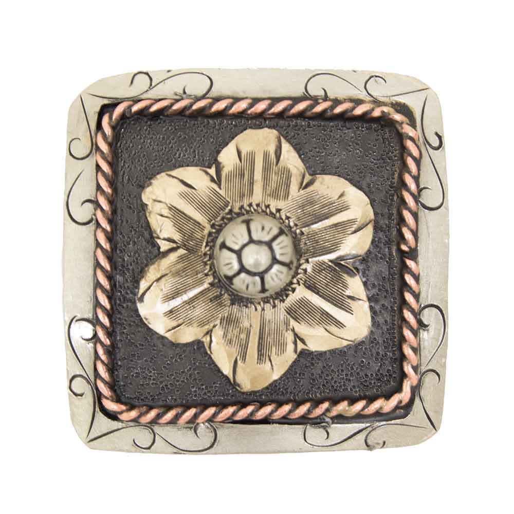 Brown And Gold Flower Concho Tack - Conchos & Hardware - Conchos Teskeys Teskeys