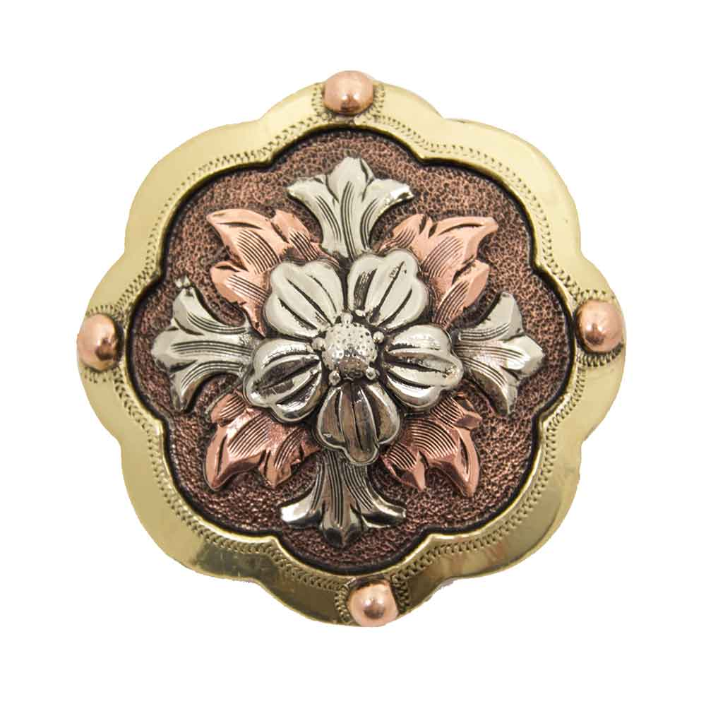 Flower Cross Concho