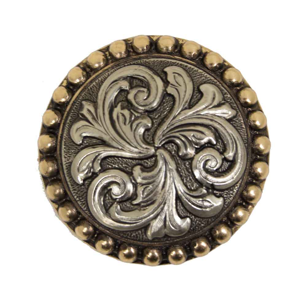 Antique Floral Scroll Concho