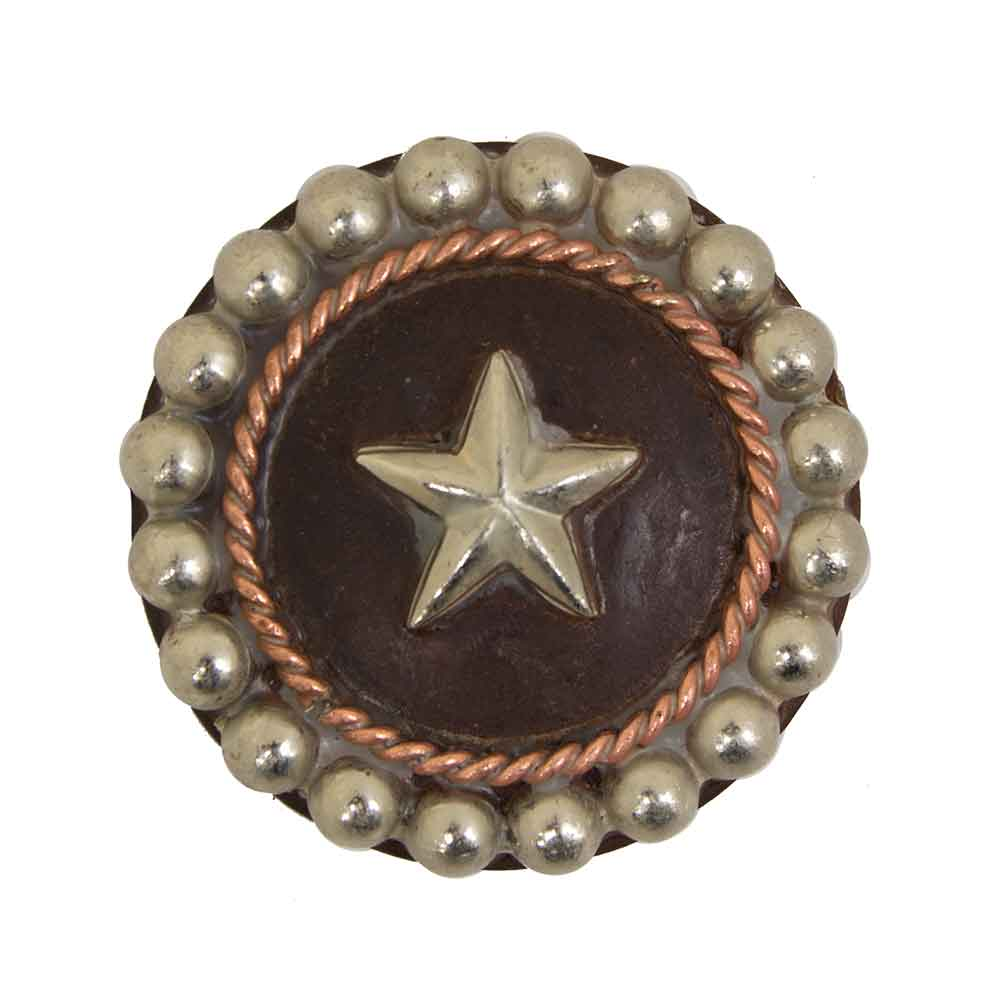 Antique Star Concho With Wire Border Tack - Conchos & Hardware Teskeys Teskeys