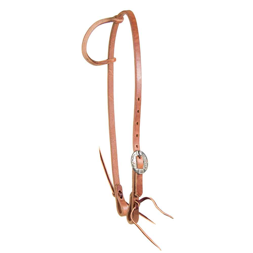 Teskey's Rolled One Ear Headstall with Floral Buckle Tack - Headstalls - One Ear Teskey's Teskeys