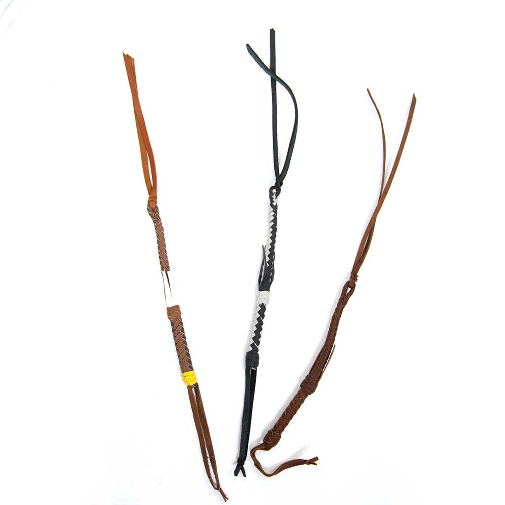 Cowboy Collection Braided Leather Quirts Tack - Whips, Crops & Quirts Cowboy Collection Teskeys
