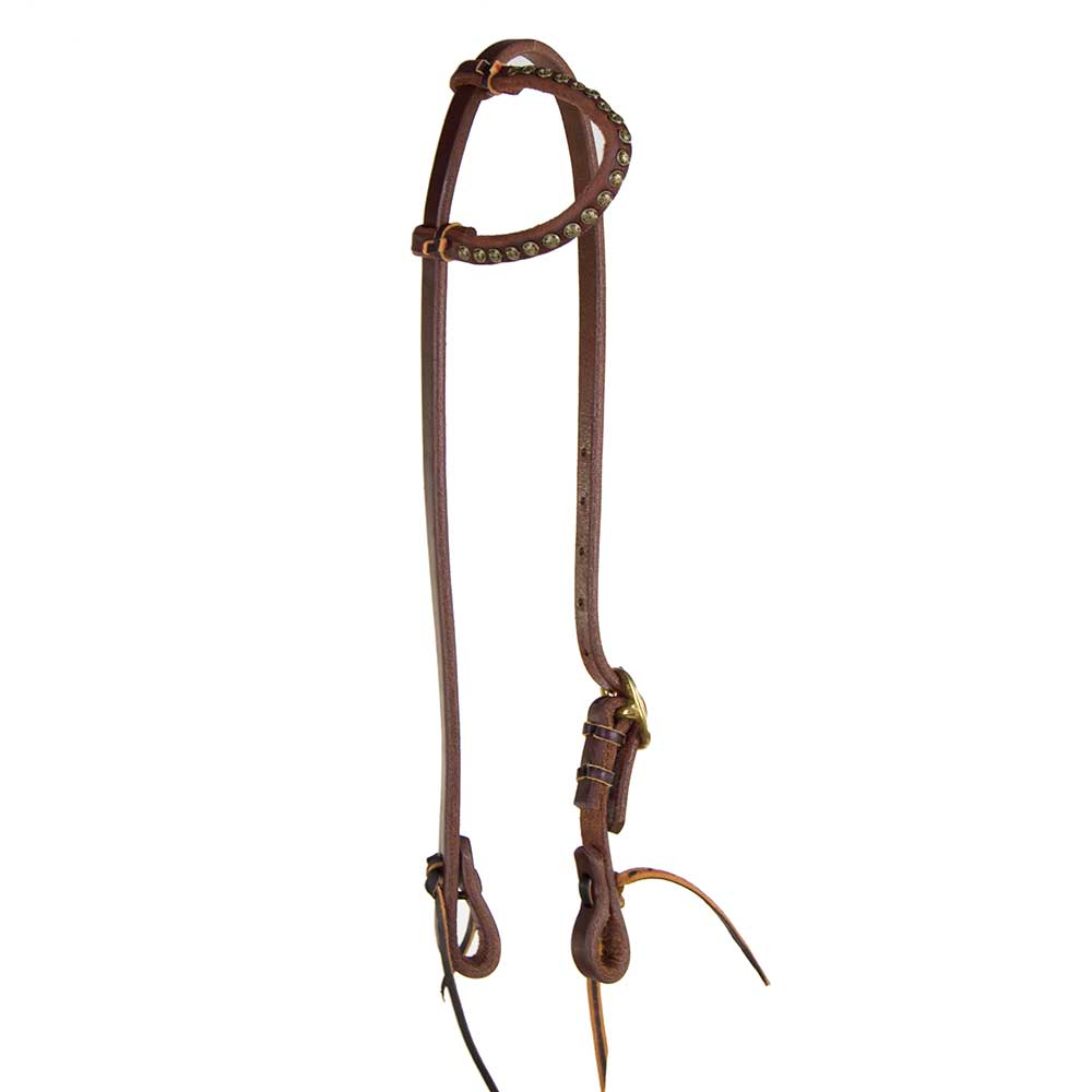 One Ear Headstall with Parachute Dots Tack - Headstalls Teskeys Teskeys