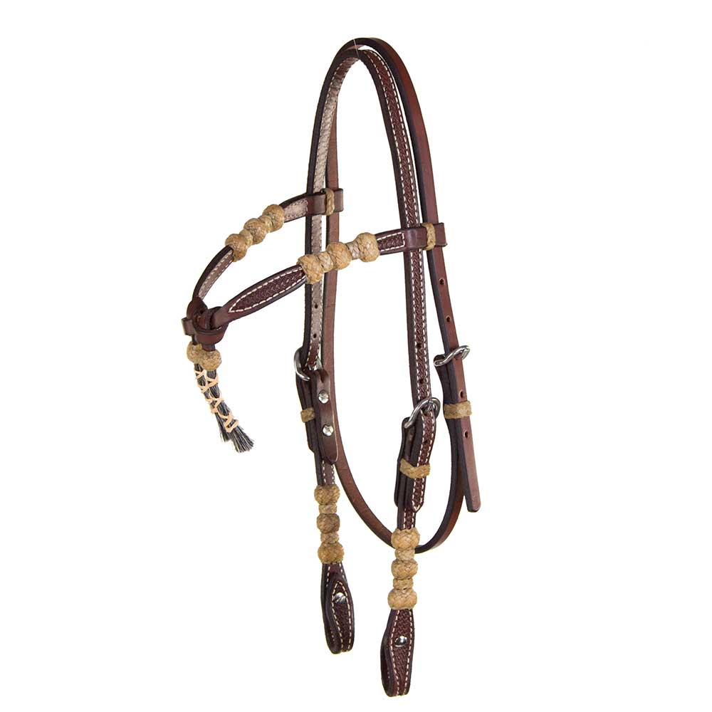 Teskey's Basket Stamped Crossover Headstall Tack - Headstalls - Browband Teskey's Teskeys