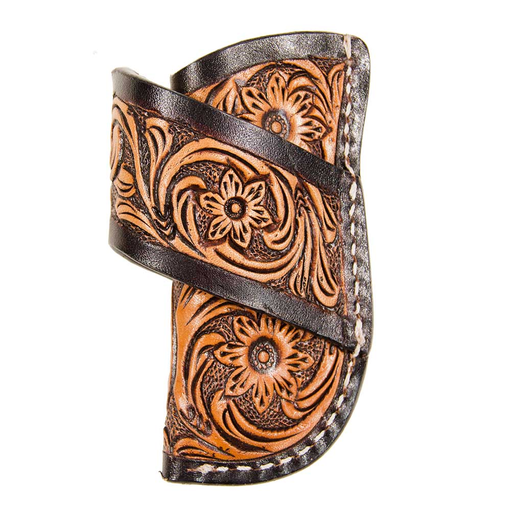 Texas Cutlery Sunflower Tooled Knife Scabbard Knives - Knife Accessories Texas Cutlery Teskeys