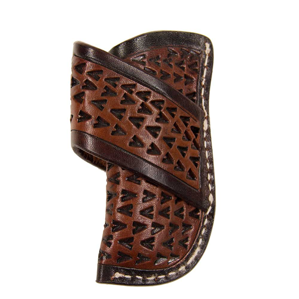 Texas Cutlery Chestnut Tooled Knife Scabbard Knives - Knife Accessories Texas Cutlery Teskeys