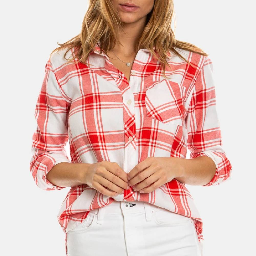 Dylan Chase Plaid Button Up Shirt WOMEN - Clothing - Tops - Long Sleeved DYLAN Teskeys