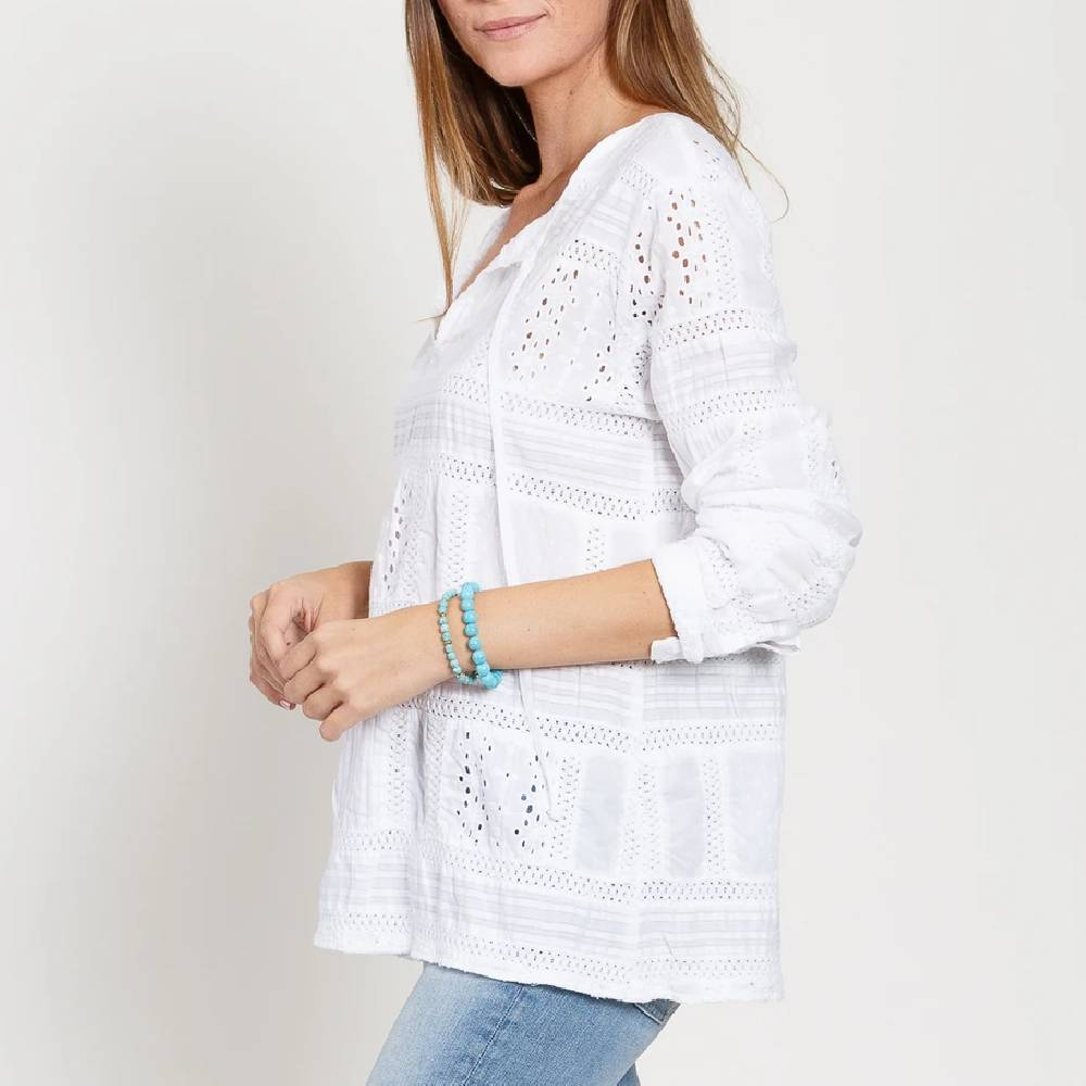 Dylan Paige Patchwork Tunic WOMEN - Clothing - Tops - Long Sleeved DYLAN Teskeys