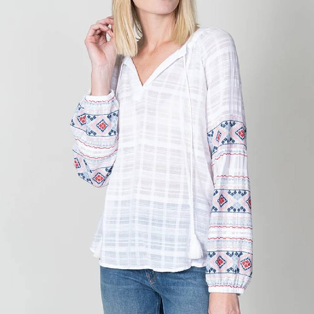 Dylan Tala Embroiderd Tunic WOMEN - Clothing - Tops - Long Sleeved DYLAN Teskeys