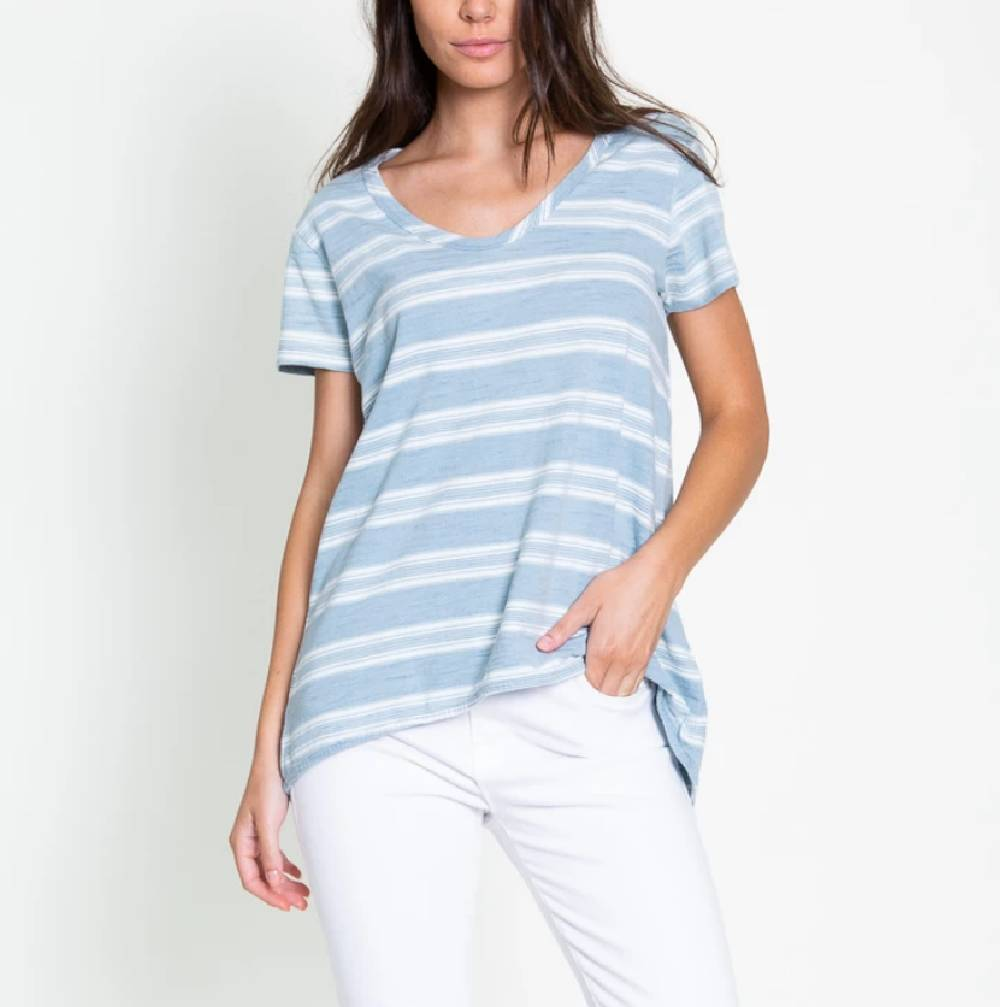 Dylan Trestle Stripe Tee WOMEN - Clothing - Tops - Short Sleeved DYLAN Teskeys