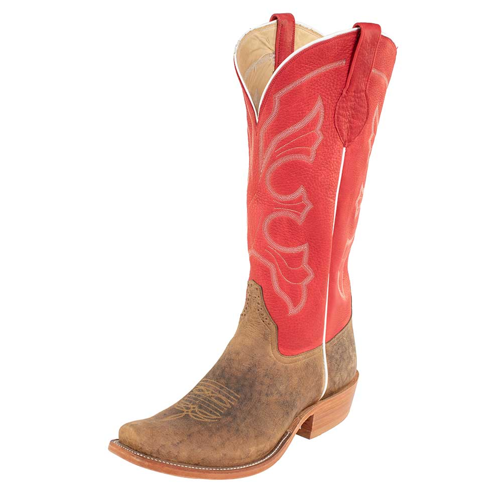 Rios of Mercedes Red Bison Boot MEN - Footwear - Western Boots RIOS OF MERCEDES BOOT CO. Teskeys