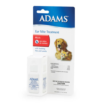 Adams Ear Mite Treatment FARM & RANCH - Animal Care - Pets - Medical Adams Teskeys