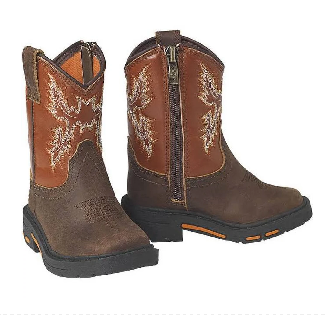 Ariat Kids Chandler Brown Lil' Stompers Boot KIDS - Boys - Footwear - Boots M&F WESTERN PRODUCTS Teskeys