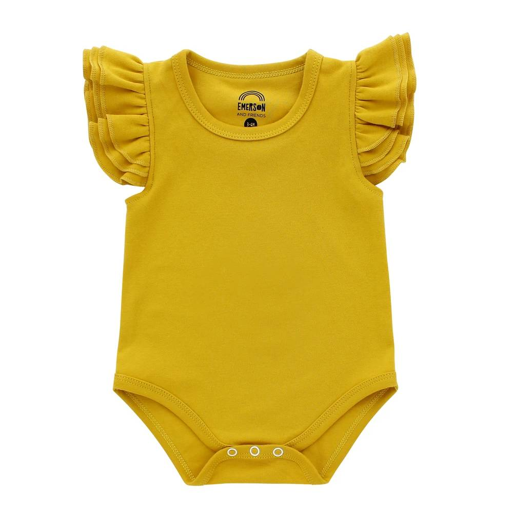 Flutter Sleeve Onesie KIDS - Baby - Baby Girl Clothing EMERSON AND FRIENDS Teskeys