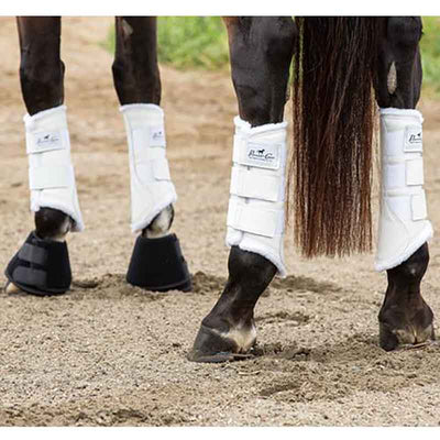 Leather Protection Boots With Fleece Lining 2PK by Professionals Choice Tack - Leg Protection - Splint Boots Professional's Choice Teskeys