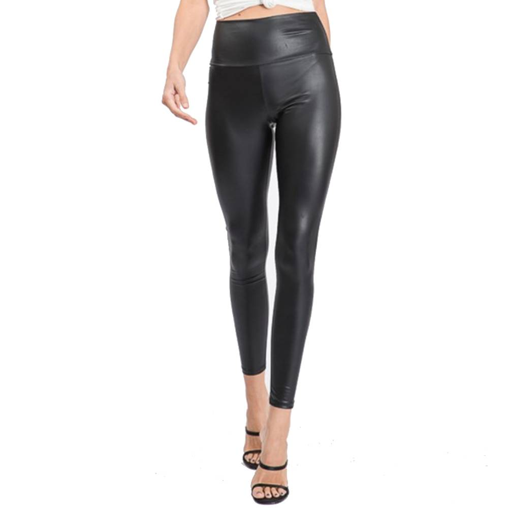 Faux Black Leather Leggings WOMEN - Clothing - Pants & Leggings HEIMISH Teskeys