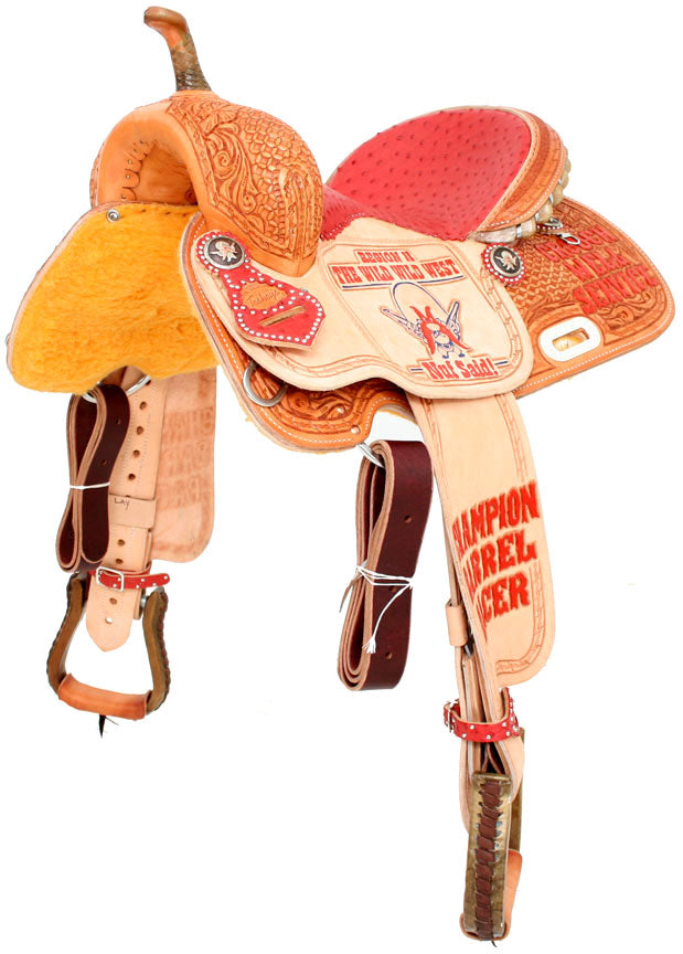 TESKEY TROPHY BARREL SADDLE #6 CUSTOMS & AWARDS - SADDLES Teskeys Teskeys