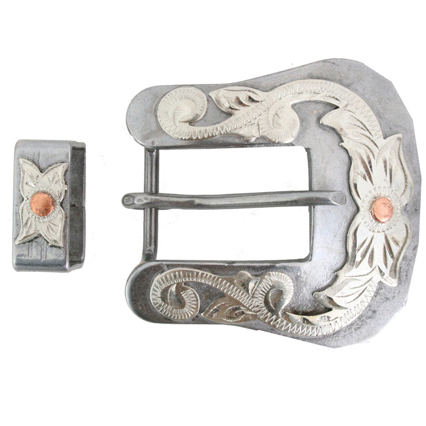 "Cowpuncher 3/4"" Mounted Buckle Tack - Conchos & Hardware - Buckles Cowpuncher Teskeys"