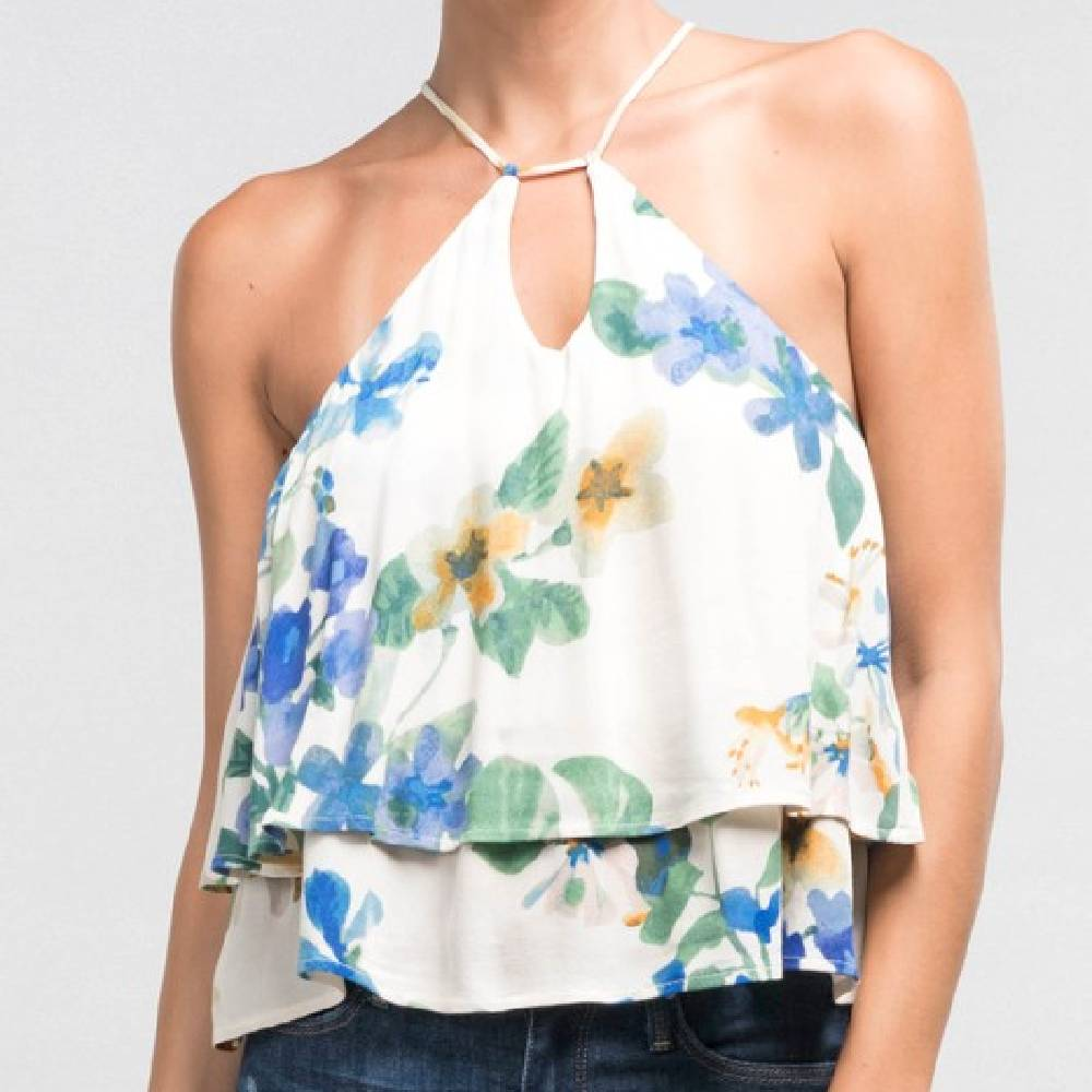 Floral Swing Tank WOMEN - Clothing - Tops - Sleeveless Clothing Illustrated, Inc. Teskeys