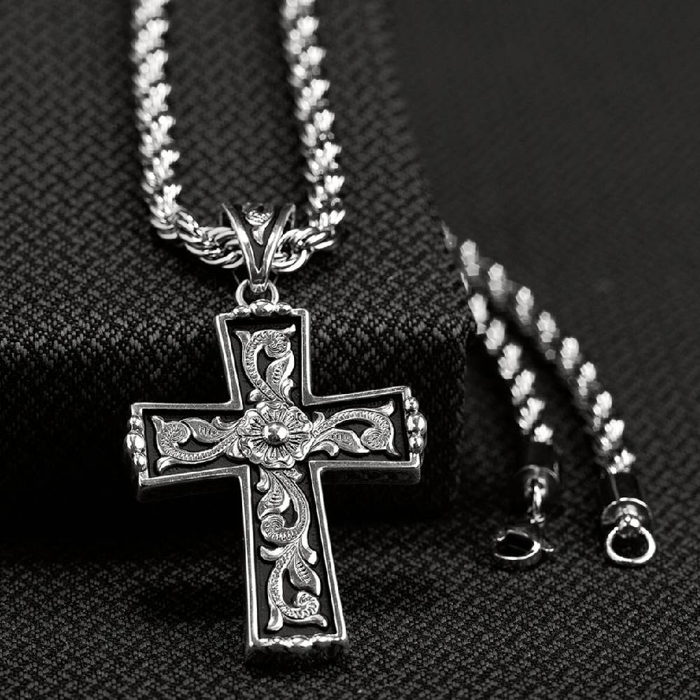 Floral Cross Necklace MEN - Accessories - Jewelry & Cuff Links M&F WESTERN PRODUCTS Teskeys