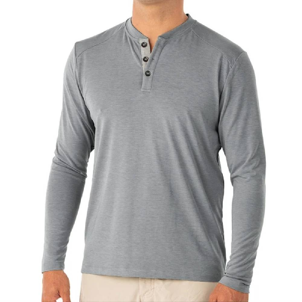Free Fly Men's Bamboo Flex Henley Shirt MEN - Clothing - Shirts - Long Sleeve Shirts FREE FLY APPAREL Teskeys