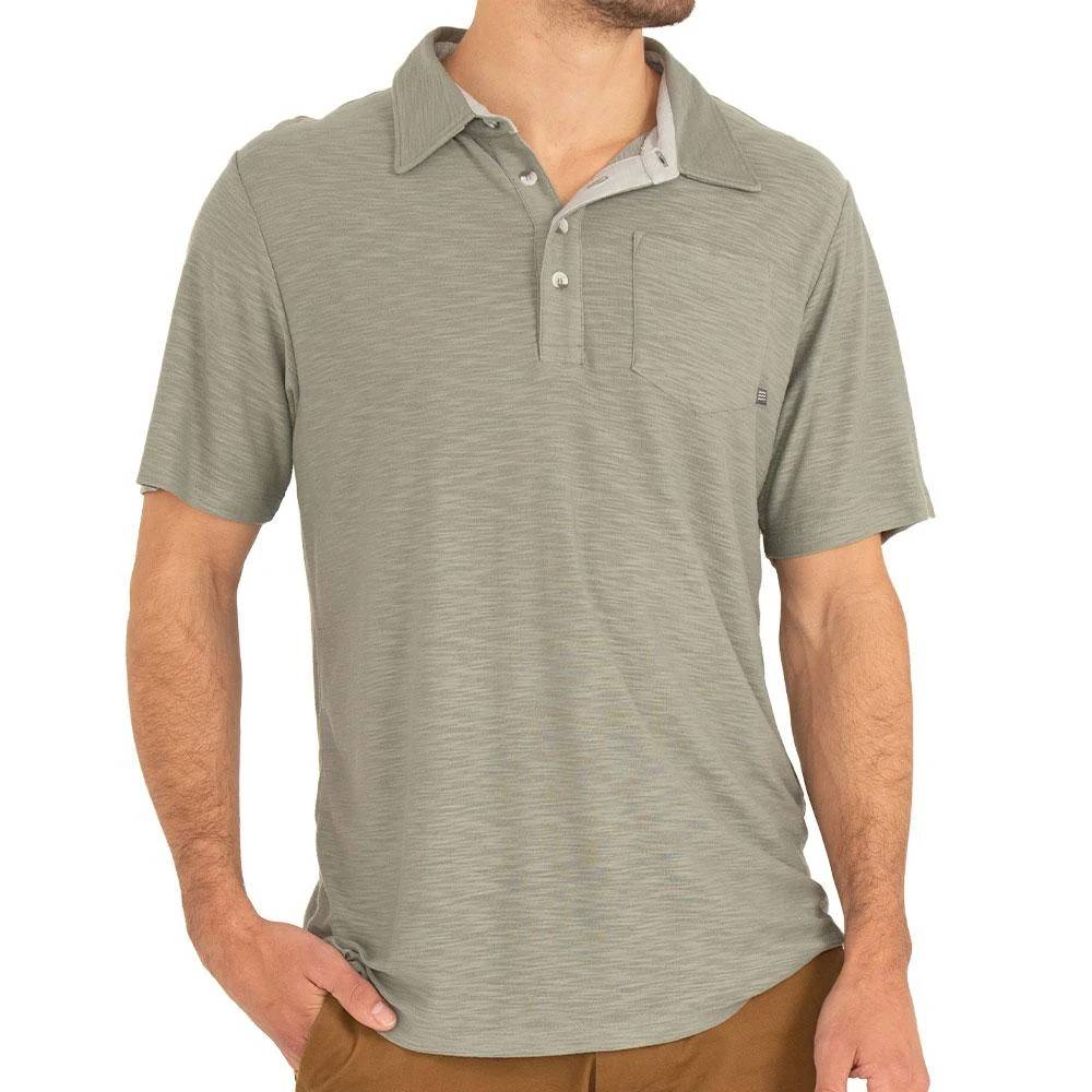 Free Fly Bamboo Slub Polo MEN - Clothing - T-Shirts & Tanks FREE FLY APPAREL Teskeys