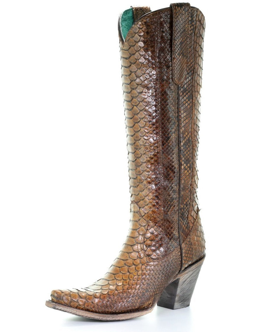 Coral Full Python Boot WOMEN - Footwear - Boots - Exotic Boots Teskeys Teskeys