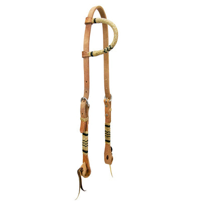 Teskey's One Ear Headstall with Rawhide Accents Tack - Headstalls - One Ear Teskey's Teskeys