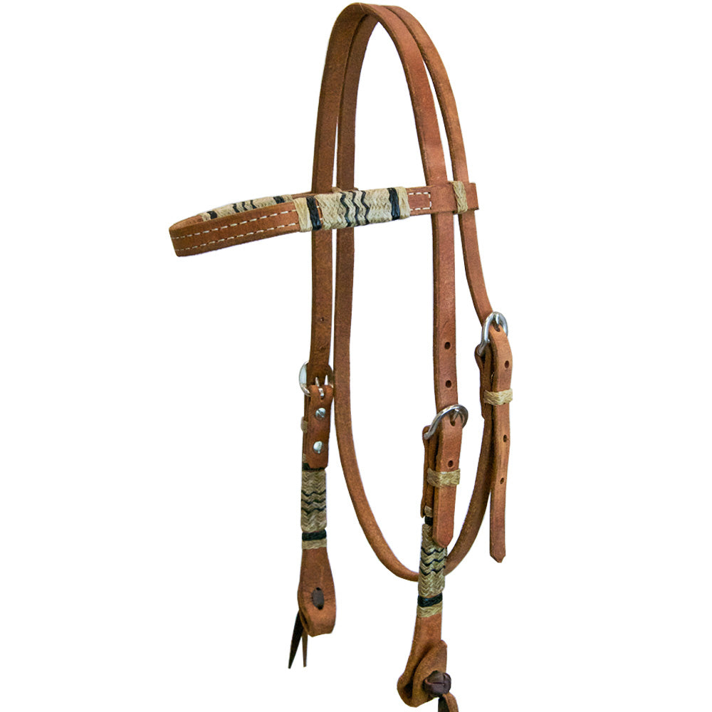 Teskey's Browband Headstall with Rawhide Accents Tack - Headstalls - Browband Teskey's Teskeys